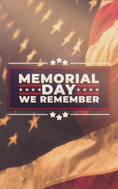 American Flag Memorial Day Service Bulletin Cover