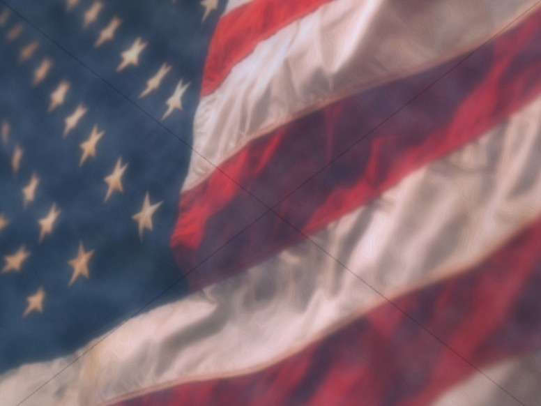 American Flag Memorial Day Worship Background