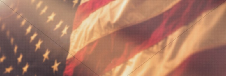 American Flag Memorial Day Service Website Banner