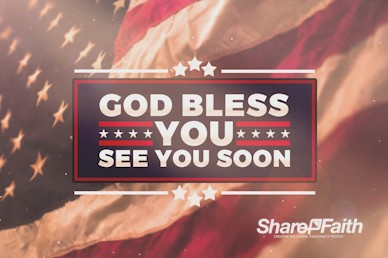 American Flag Memorial Day Goodbye Motion Graphic