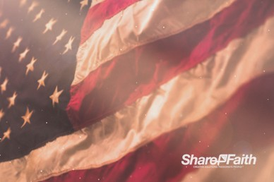 American Flag Memorial Day Motion Background