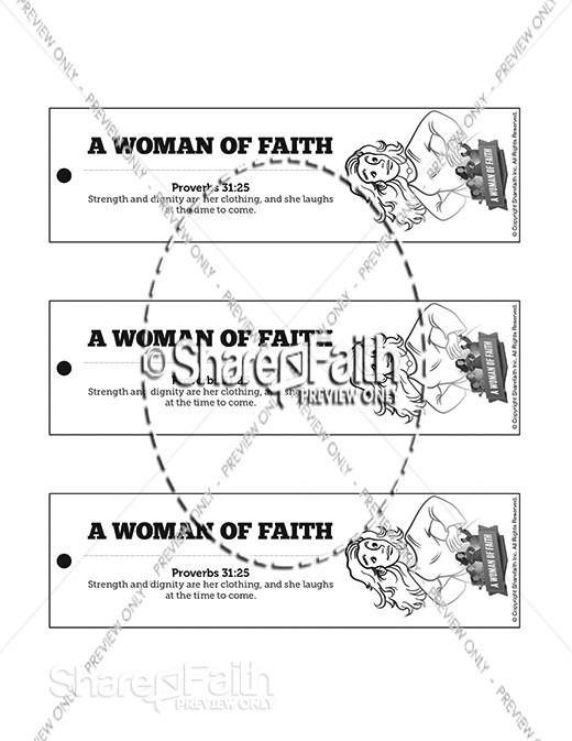 Proverbs 31 A Woman of Faith Bible Bookmarks