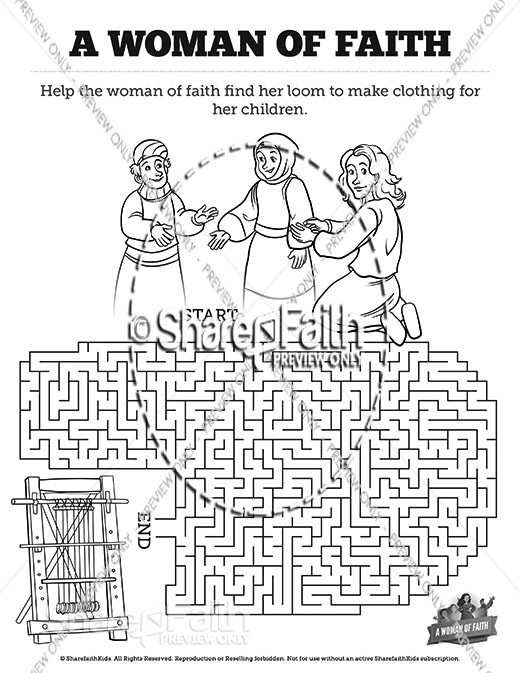 Proverbs 31 A Woman of Faith Bible Mazes