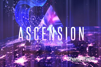 Ascension Day Service Church Motion Graphic