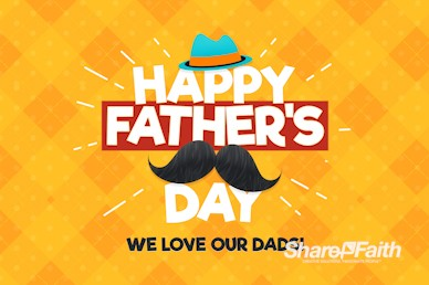 Father's Day Mustache Church Motion Graphic