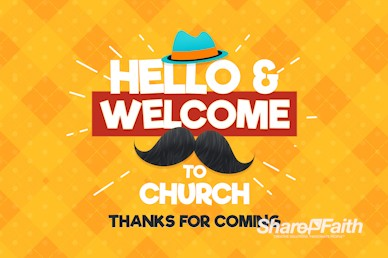 Father's Day Mustache Welcome Motion Graphic