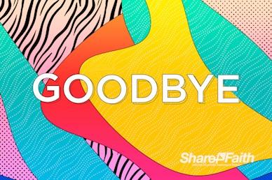 Graduation Sunday Abstract Goodbye Video Loop