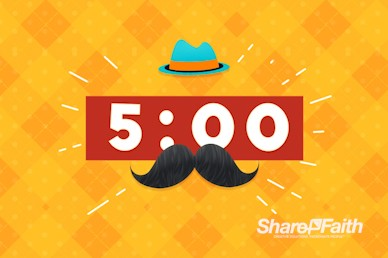 Father's Day Mustache Church Countdown Timer