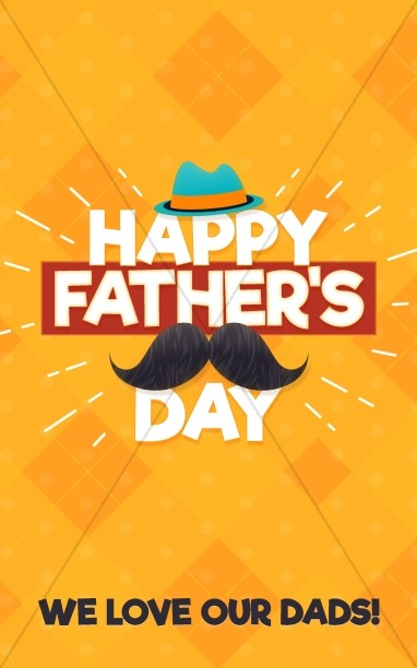 Father's Day Mustache Church Bulletin Cover