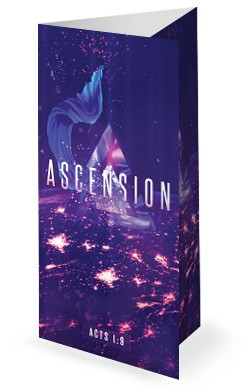 Ascension Day Service Trifold Bulletin Cover