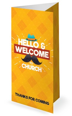 Father's Day Mustache Church Trifold Bulletin Cover