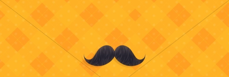 Father's Day Mustache Church Website Graphic