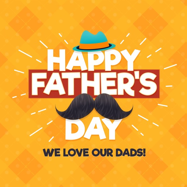 Father's Day Mustache Social Media Graphic