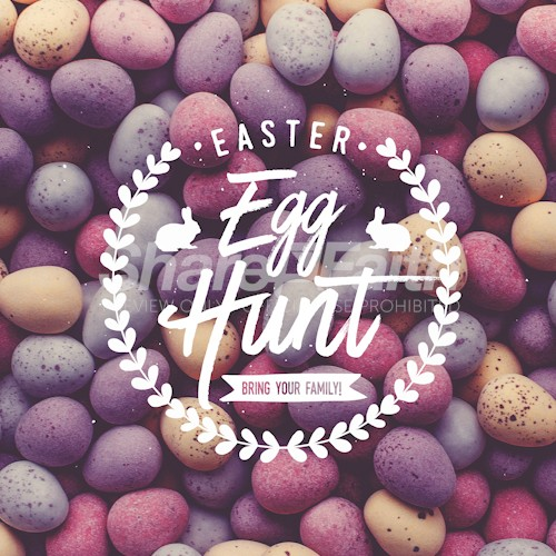 Easter Egg Hunt Social Media Graphic