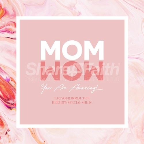 Mom Wow Mother's Day Social Media Graphic