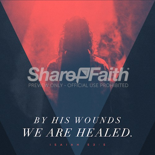 By His Wounds Church Social Graphic