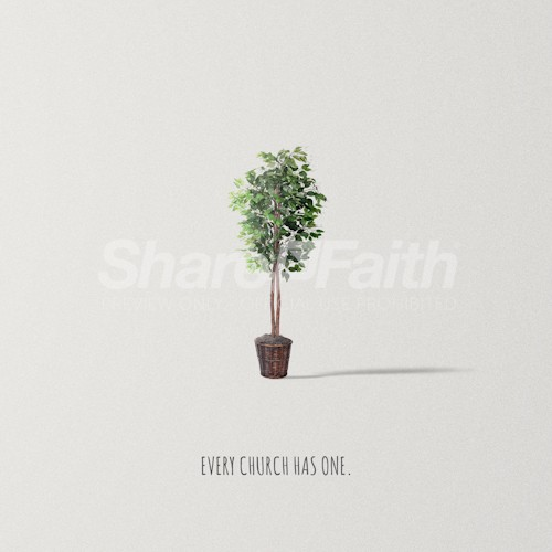 Church Ficus Plant Social Media Graphic