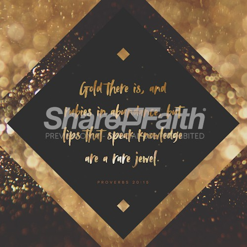 Gold And Rubies Social Media Graphic