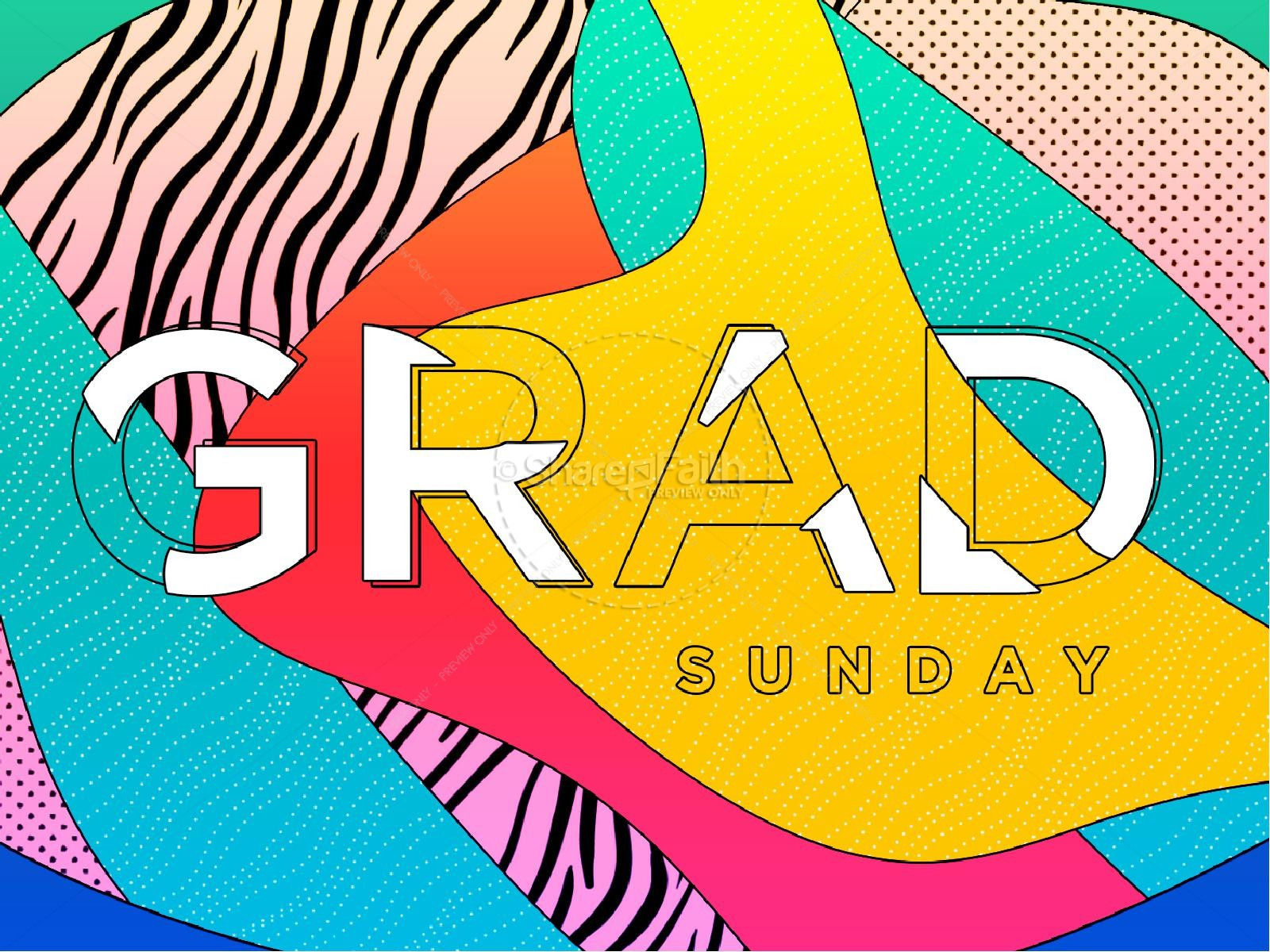 Graduation Sunday Abstract Graphic Design