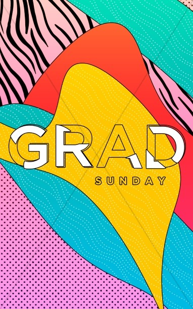 Graduation Sunday Abstract Bulletin Design