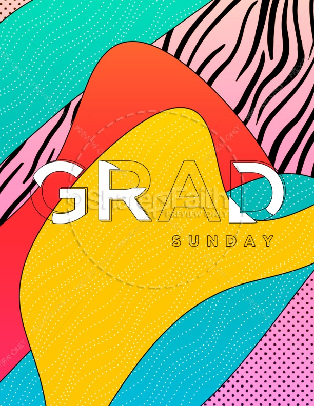 Graduation Sunday Abstract Flyer Design