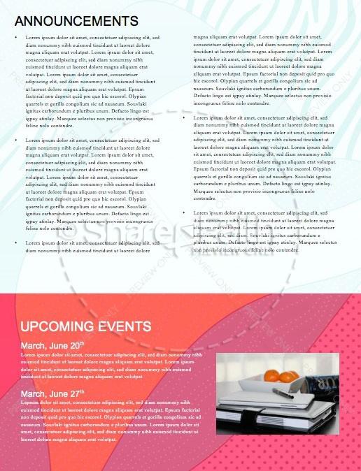 Graduation Sunday Abstract Newsletter Design