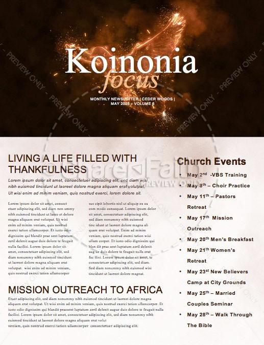 Fire Of The Spirit Pentecost Sunday Newsletter