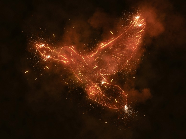 Fire Of The Spirit Pentecost Worship Background