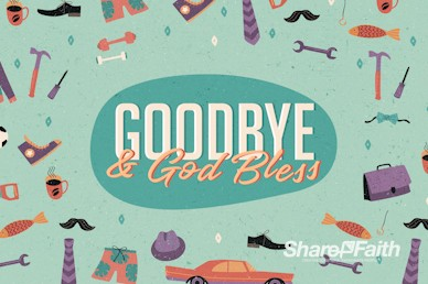 Manly Father's Day Goodbye Motion Graphic