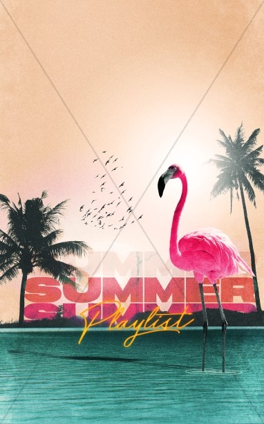 Summer Playlist Church Bulletin Cover