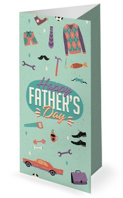 Manly Father's Day Church Trifold Bulletin Cover
