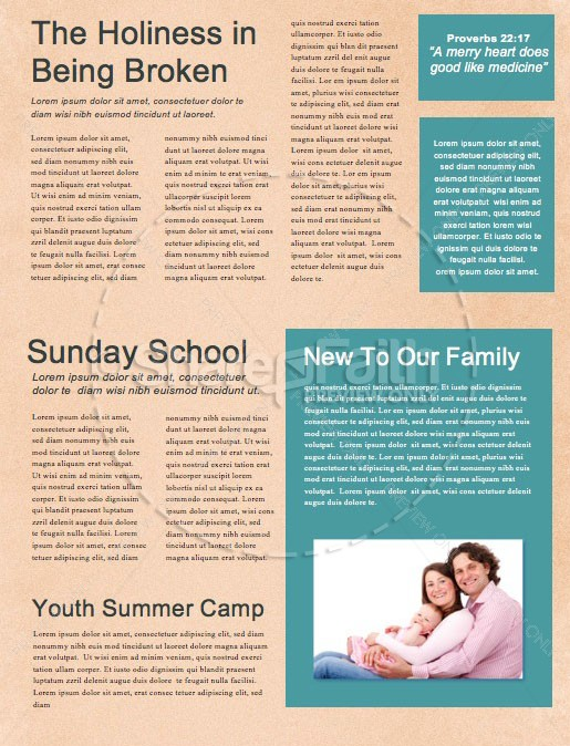 Summer Playlist Church Newsletter