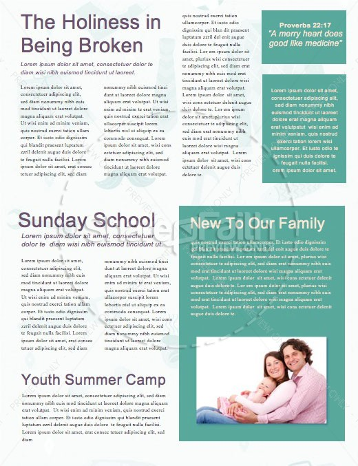 Manly Father's Day Church Newsletter Template