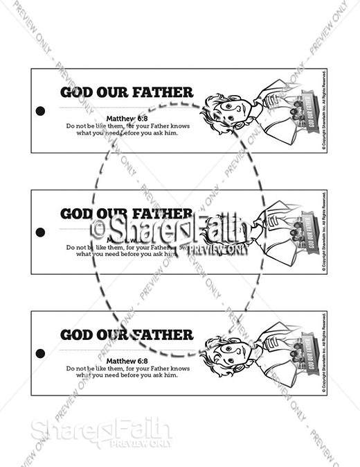 Matthew 6 God our Father Bible Bookmarks