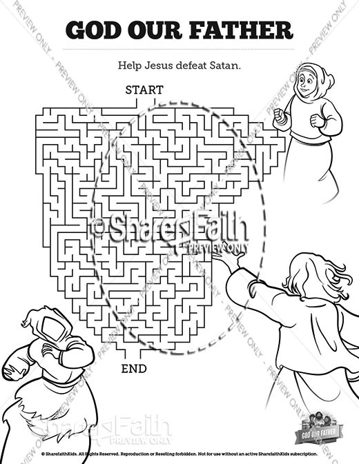 Matthew 6 God our Father Bible Mazes