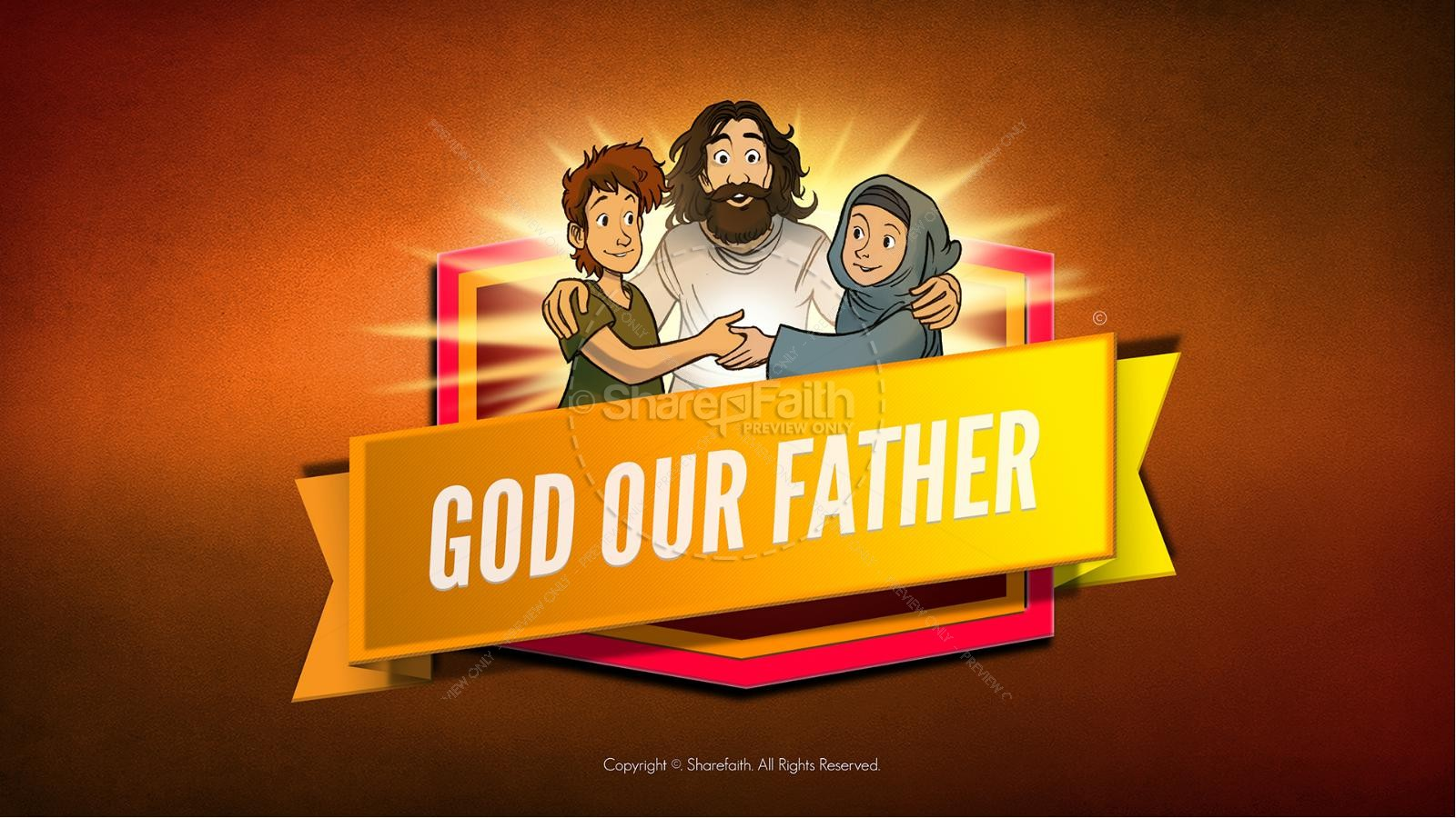 Matthew 6 God our Father Kids Bible Story | slide 1
