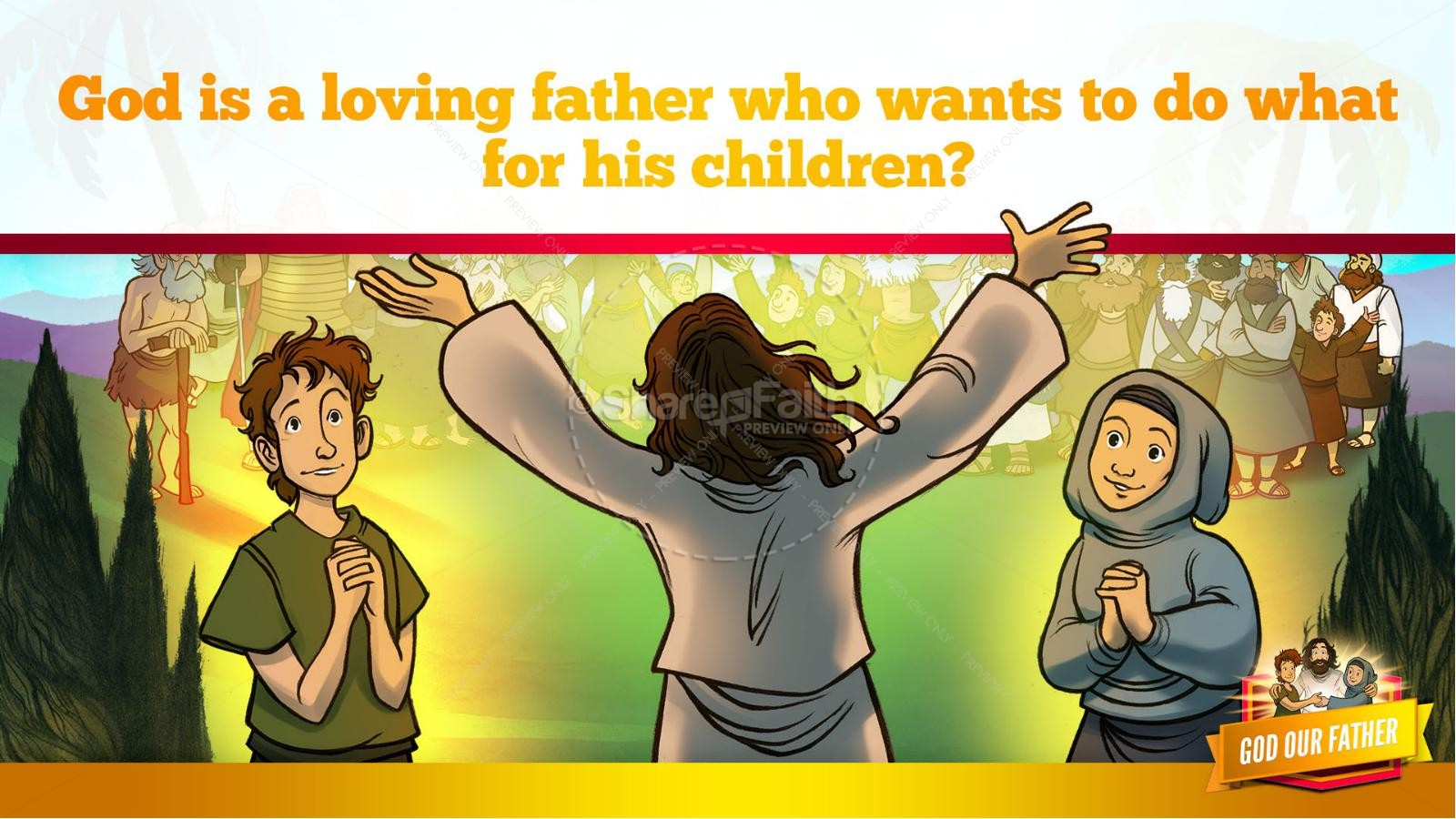Matthew 6 God our Father Kids Bible Story | slide 11