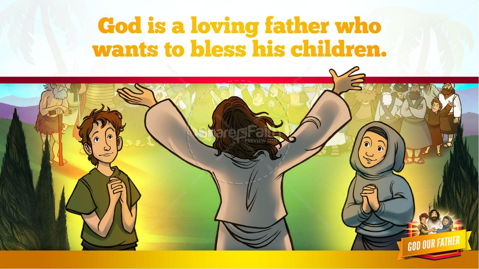 Matthew 6 God our Father Kids Bible Story | slide 12