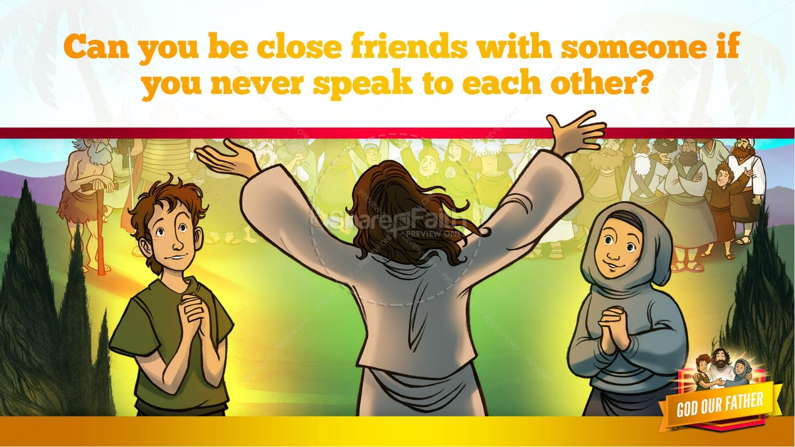 Matthew 6 God our Father Kids Bible Story | slide 13