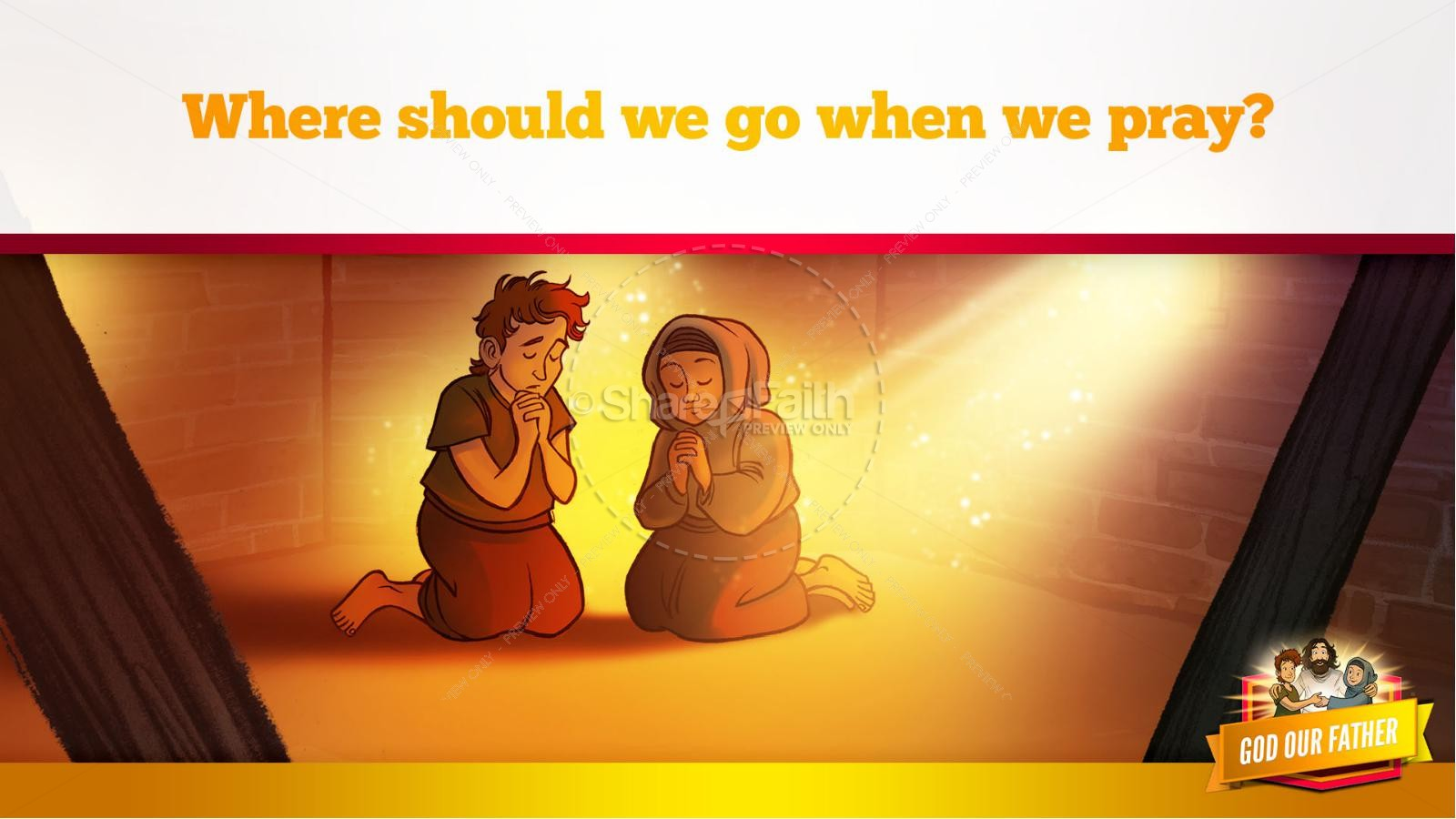 Matthew 6 God our Father Kids Bible Story | slide 15