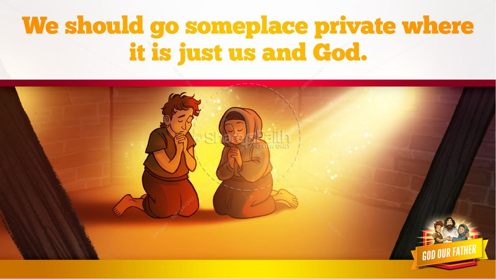 Matthew 6 God our Father Kids Bible Story | slide 16