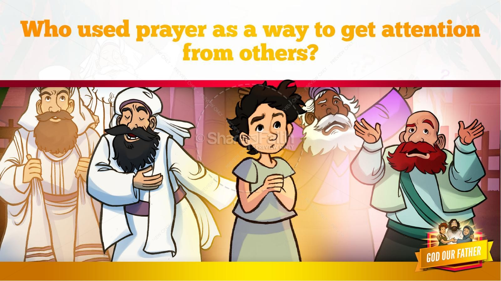 Matthew 6 God our Father Kids Bible Story | slide 19