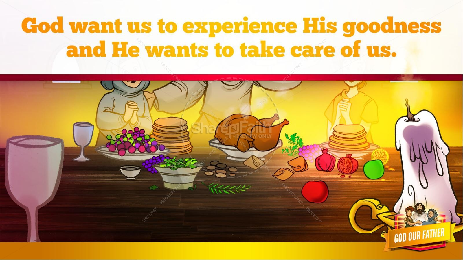Matthew 6 God our Father Kids Bible Story | slide 28
