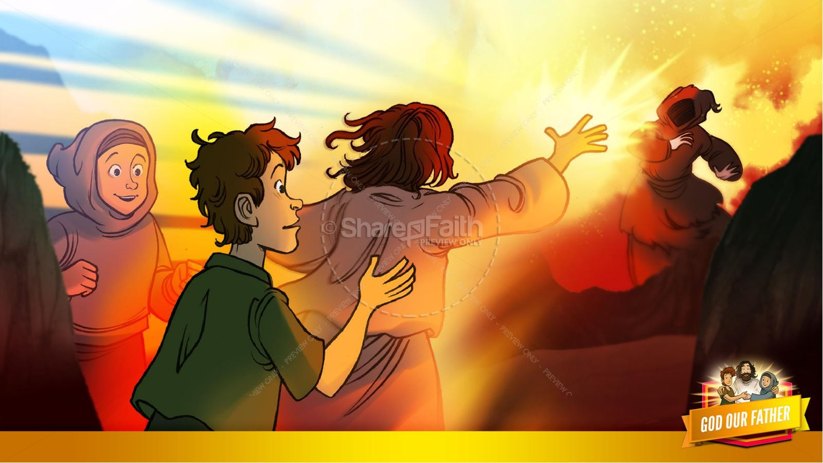 Matthew 6 God our Father Kids Bible Story | slide 30