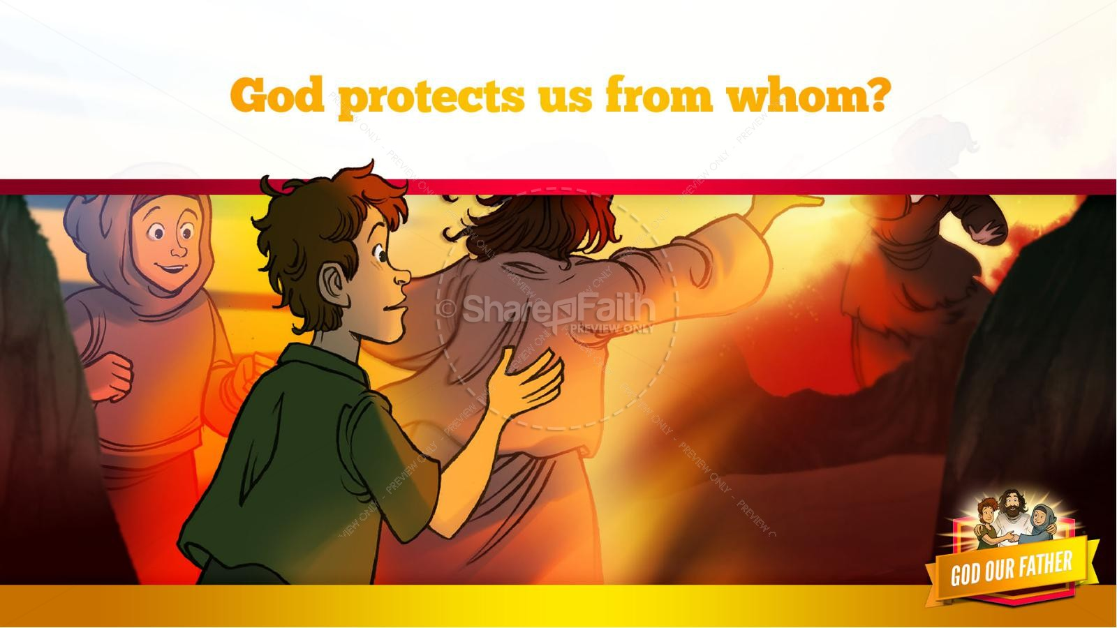 Matthew 6 God our Father Kids Bible Story | slide 31