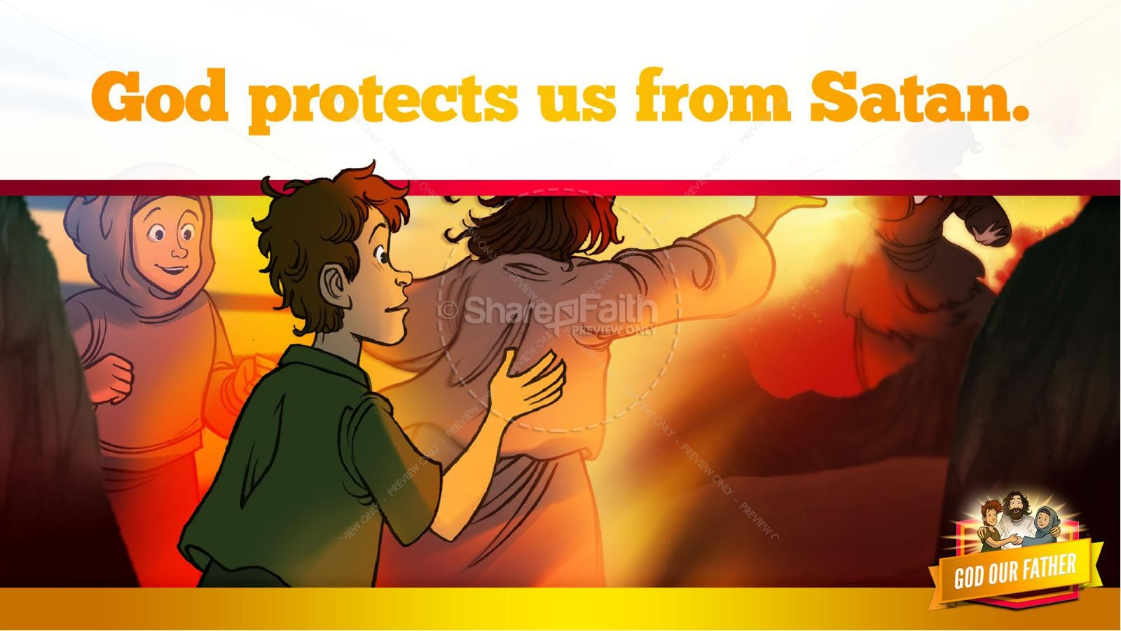 Matthew 6 God our Father Kids Bible Story | slide 32