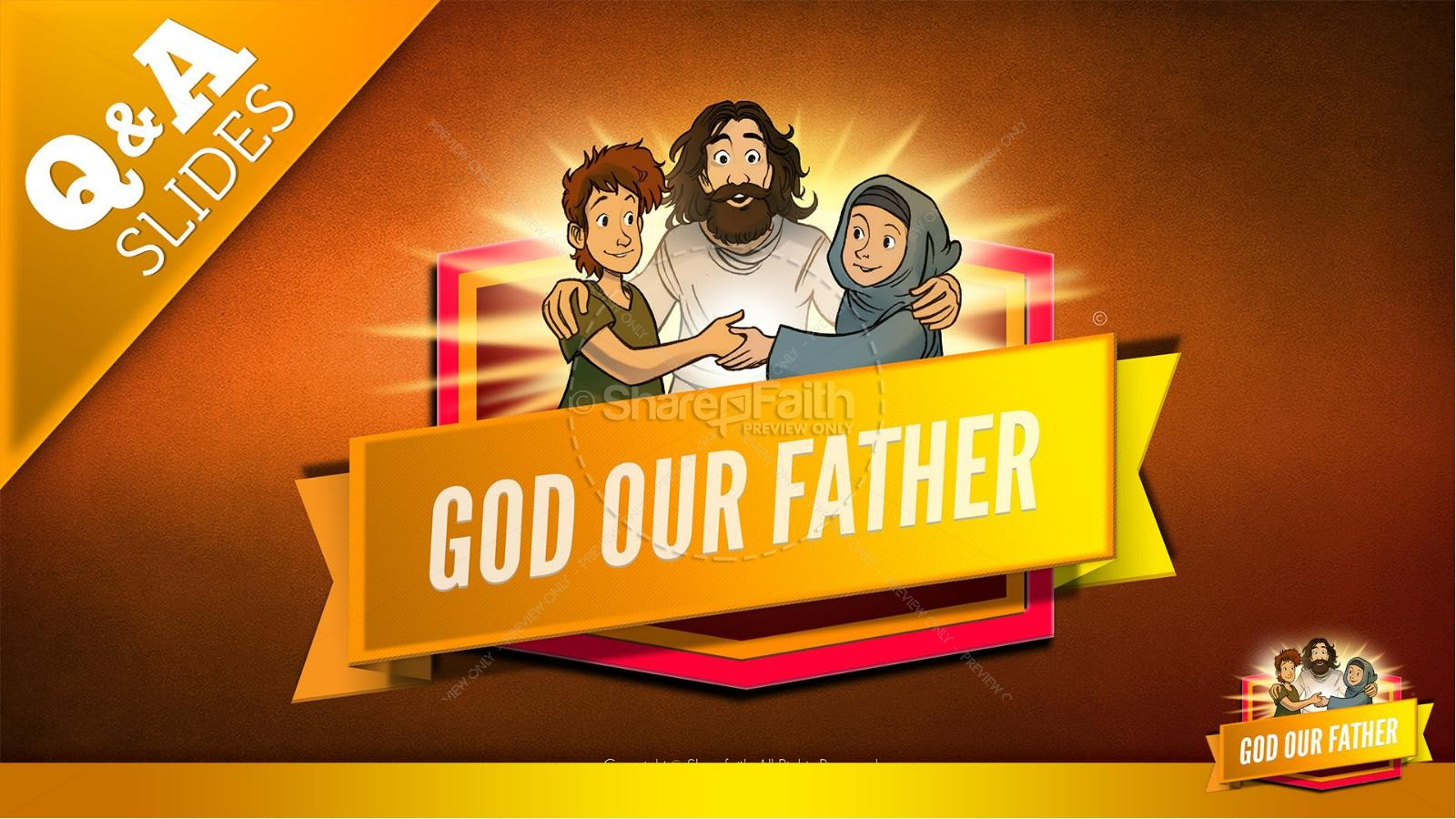 Matthew 6 God our Father Kids Bible Story | slide 9