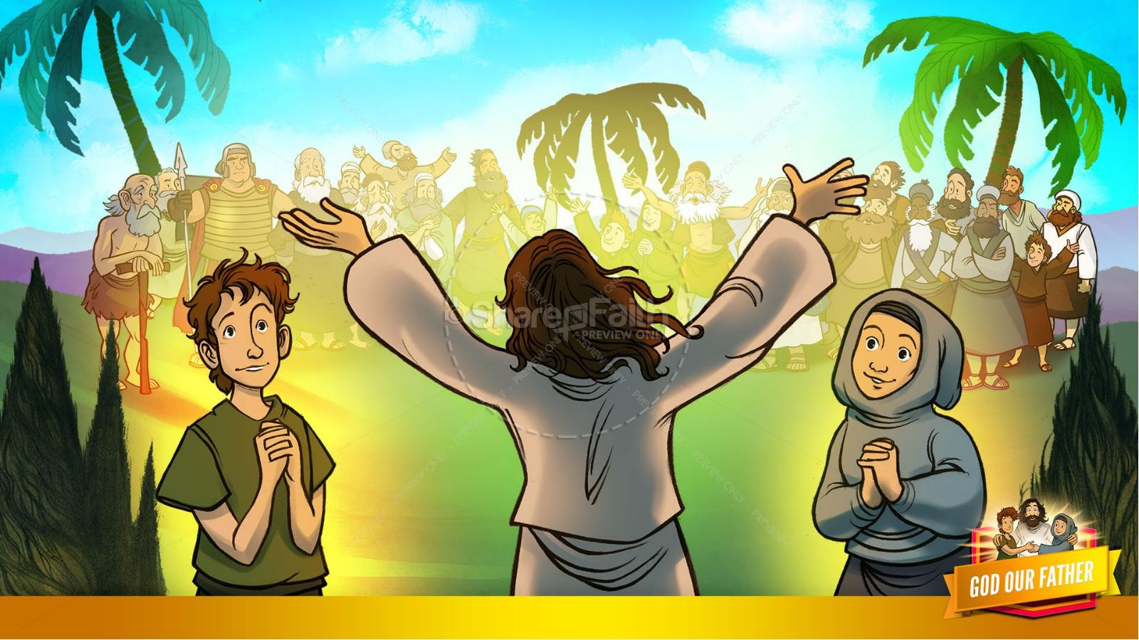 Matthew 6 God our Father Kids Bible Story | slide 10