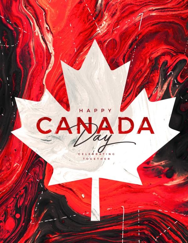 Canada Day Church Flyer Design