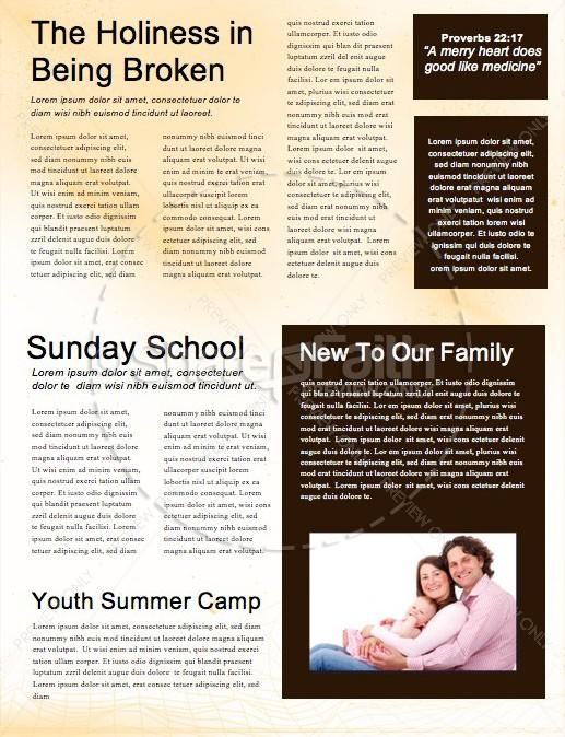 Vacation Bible School Newsletter Design